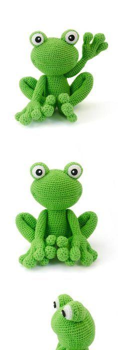 Fritz the frog amigu crochet pinterest frogs amigurumi and kirk the frog amigurumi pattern by lisa jestes dt1010fo