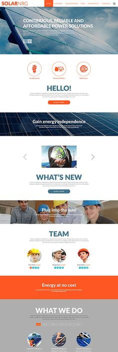 Industrial Company Website Template Themes Business Responsive - What website template is this