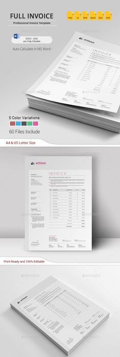 Invoice Page Invoice  Template Font Logo And Corporate Identity