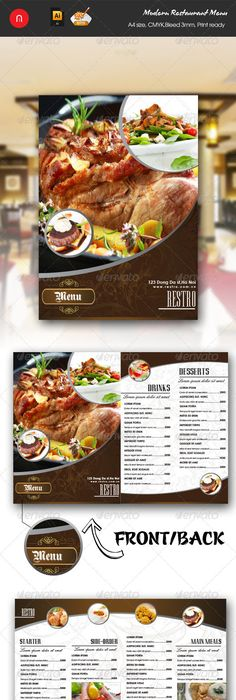 Creative Restaurant Menu Templates Psd  Indesign  Graphic