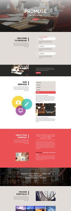 PozitivA - Multipurpose One Page Muse Template by vinyljunkie