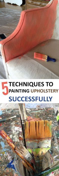 Painting Fabric Upholstery Using New Product Fab That