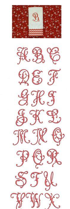 Vine Interlocking Bold Monogram Letters Instant Download Cut File