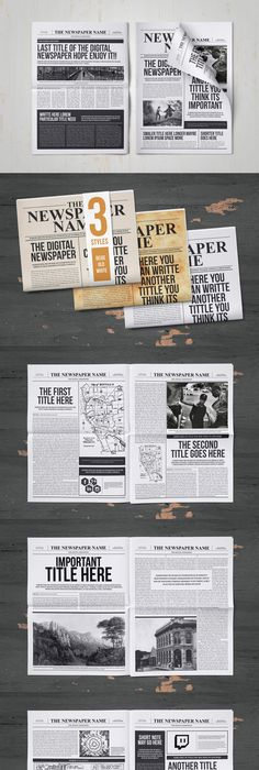 Old Style Newspaper Template  Adobe Indesign Adobe And Newspaper