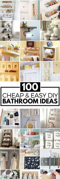 100 Cheap And Easy DIY Bathroom Ideas