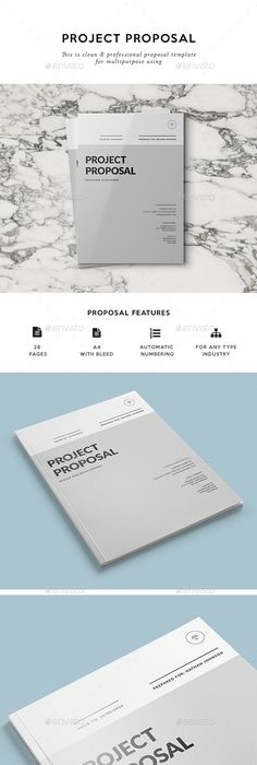 Minimal Proposal Brochure Template Indd Psd   Custom Pages A