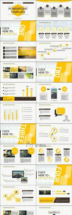 Themepark keynote template slides design download http yellow and black powerpoint template design toneelgroepblik Image collections