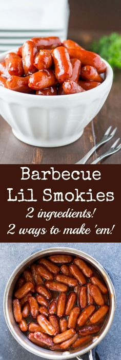 This is my go to appetizer for game day pot lucks or any time you these barbecue little smokies are officially the easiest appetizer ever they take just seconds forumfinder Image collections