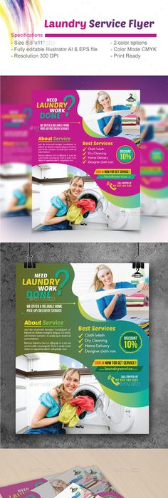 Laundry flyer flyer template laundry and template saigontimesfo