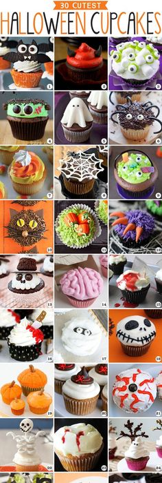 10 Halloween Cupcakes To Bake Halloween parties - decorating ideas for halloween cupcakes