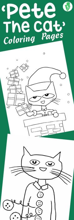 Pete the Cat and His Four Groovy Buttons Coloring page - copy christmas coloring pages cats