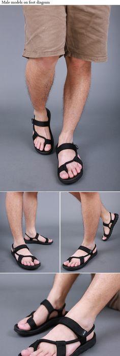 Summer 2016 Men Sandals Fashion Vercro Rubber Sole Vetnam Man Sandalias  Anti slip Outdoor Beach Shoes