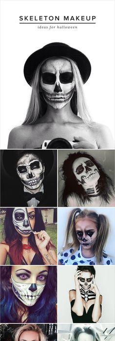 DIY scary skeleton Halloween costume Skeleton halloween costume - scary diy halloween costumes