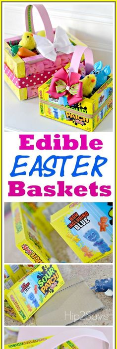 Easter basket for 1 year old boy holiday ideas pinterest edible easter baskets easy easter craft negle Images