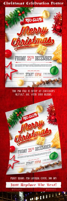 Christmas  Festive  Free Poster Templates  Backgrounds  For
