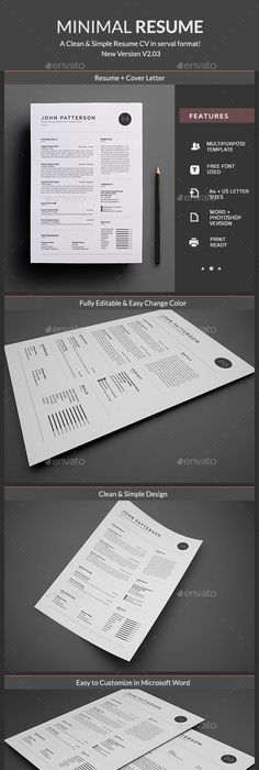 Professional And Creative Resume  Cv Design  Word  Indesign