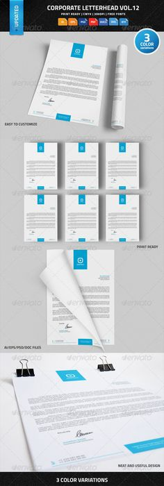 Corporate letterhead 2 with ms word stationery templates business corporate letterhead vol12 with ms word docdocx letterhead templateletterhead designecommerce spiritdancerdesigns Images