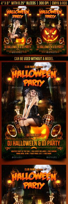 Halloween Party Flyer Template  Halloween Party Flyer Party