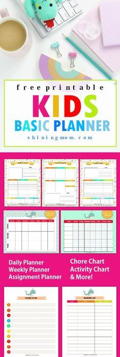 Family Weekly Calendar  Free Printable  Kids