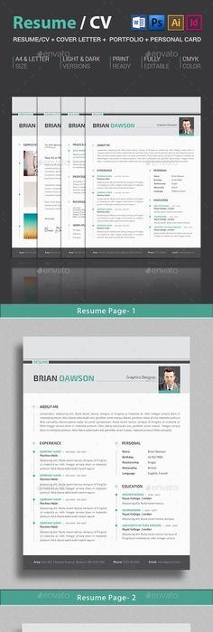 Modern Resume Cv  Modern Resume Resume Cv And Template