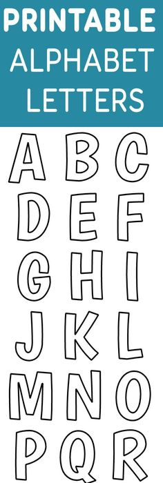 X Inch Large Rectangle Printable Alphabet Letters AZ