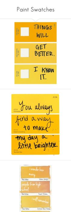Paint Swatch Quotes Good For Pinning Up In Your Dorm Or Bedroom