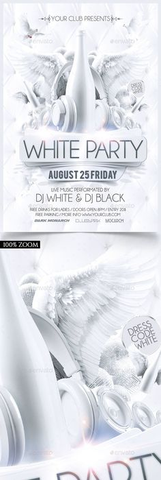 Check Out New Work On My Behance Portfolio Flyers White Party