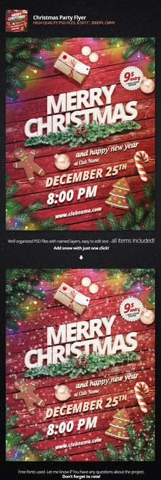 Christmas Party Flyer  Party Flyer Flyer Template And Template