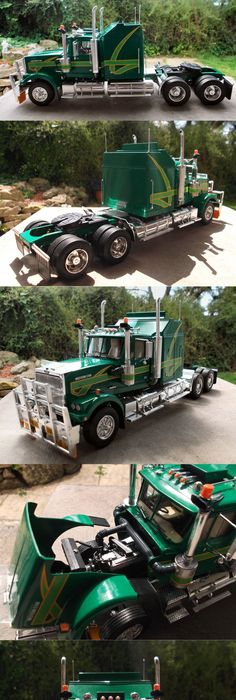 Revell peterbilt 359 conventional tractor truck model kit 1 25 scale nice detail for a truck model publicscrutiny Images