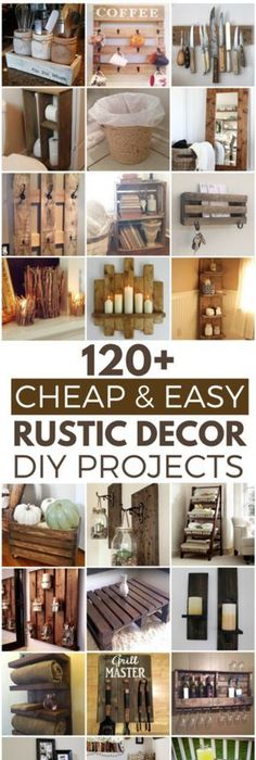 120 Cheap and Easy DIY Rustic Home Decor Ideas Review - Amazing small woodworking ideas For Your House