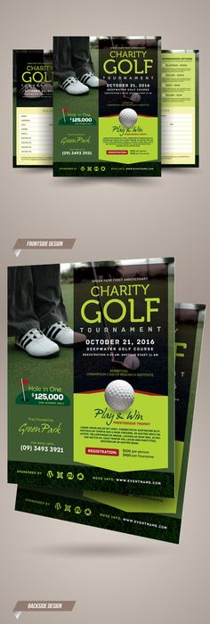 Golf Tournament Flyer Template Flyer template, Template and Fonts - golf tournament flyer template