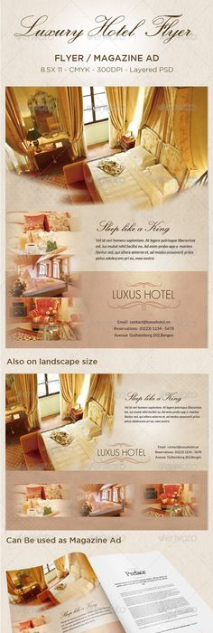 Bed And Breakfast Motel Flyer And Ad Template Design By