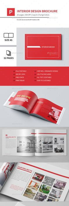 Cool Modern Brochure  Pages A Horizontal  Brochures Brochure