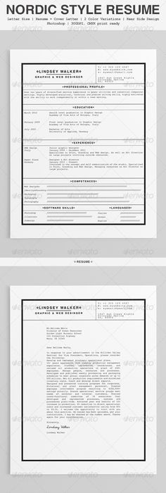 Cover Letter Design  Resume Design    Cover Letter