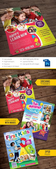 Kids Art Camp Brochure Design Template By Stocklayouts  Art