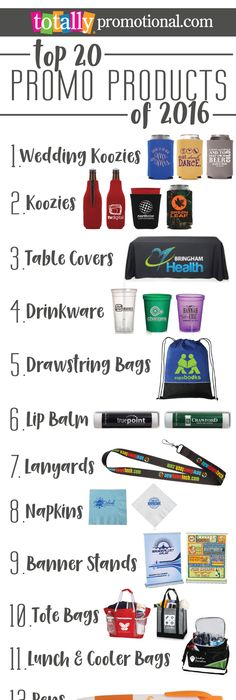 25 most popular promotional products of 2015 business swag and here we feature our best selling top 20 promotional products from 2016 use coupon fandeluxe Gallery