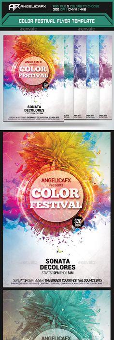 Spring Disco Summer Fest Flyer Template Summer Fest Flyer