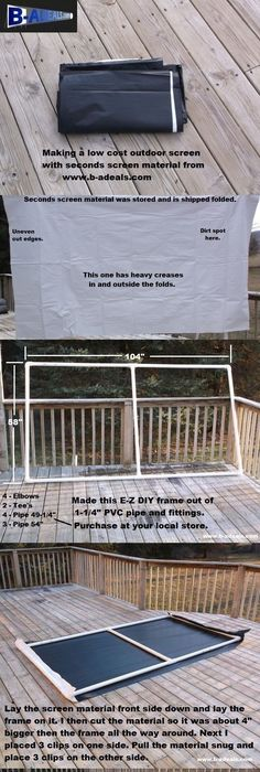 Free Projection Screen Frame Instructions From Www.b ADeals.com