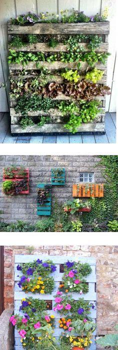 DIY Pallet garden! What a fabulous idea! by Ann Diamond   How to ...