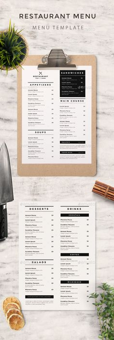 Minimalist Menu Template Psd Design Download HttpGraphicriver