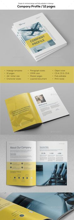 Contrast Business Brochure Template This Layout Is Suitable For Any