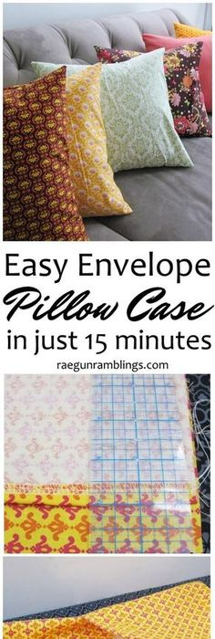 45 fun diy pillows crafty teen and pillows great diy sewing tutorial ive already made a few of these envelop pillow cases solutioingenieria Images