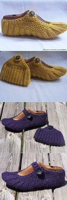 Pin von İ auf Örme ev ayakkabısı babet patik | Pinterest