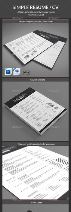 Clean resumecv resume cv cv template and template yelopaper Choice Image