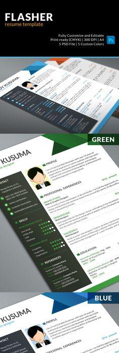 Creative Resume Template Creative resume templates, Template and - free resume design templates
