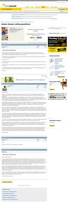 Steam Room Construction Tips \u0027  wwwaskthebuilder/steam