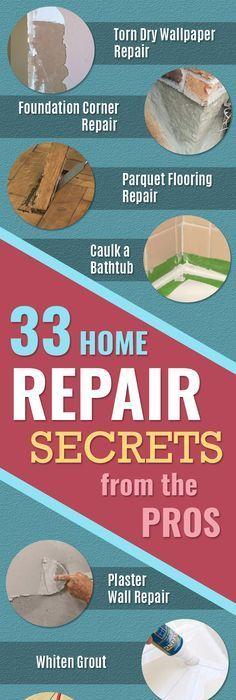 33 Home Repair Secrets From The Pros   Home Repair Ideas, Home Repairs On A
