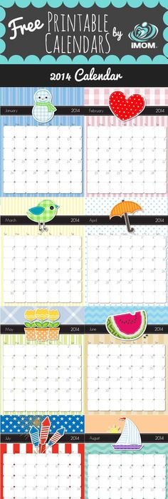 Cute And Crafty  Calendar  Printable Calendars Free And Crafty