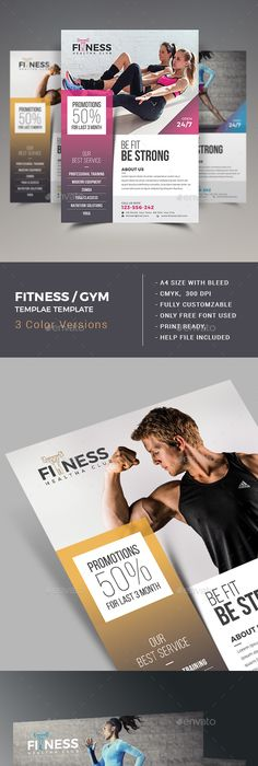 Fitness Flyer  Flyer Template Template And Ads