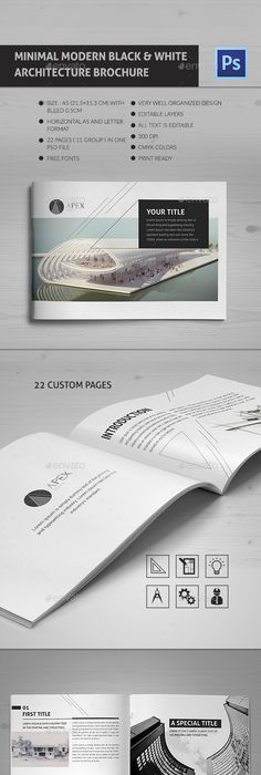 Modern Architecture Brochure  Pages A  A  Brochures Print